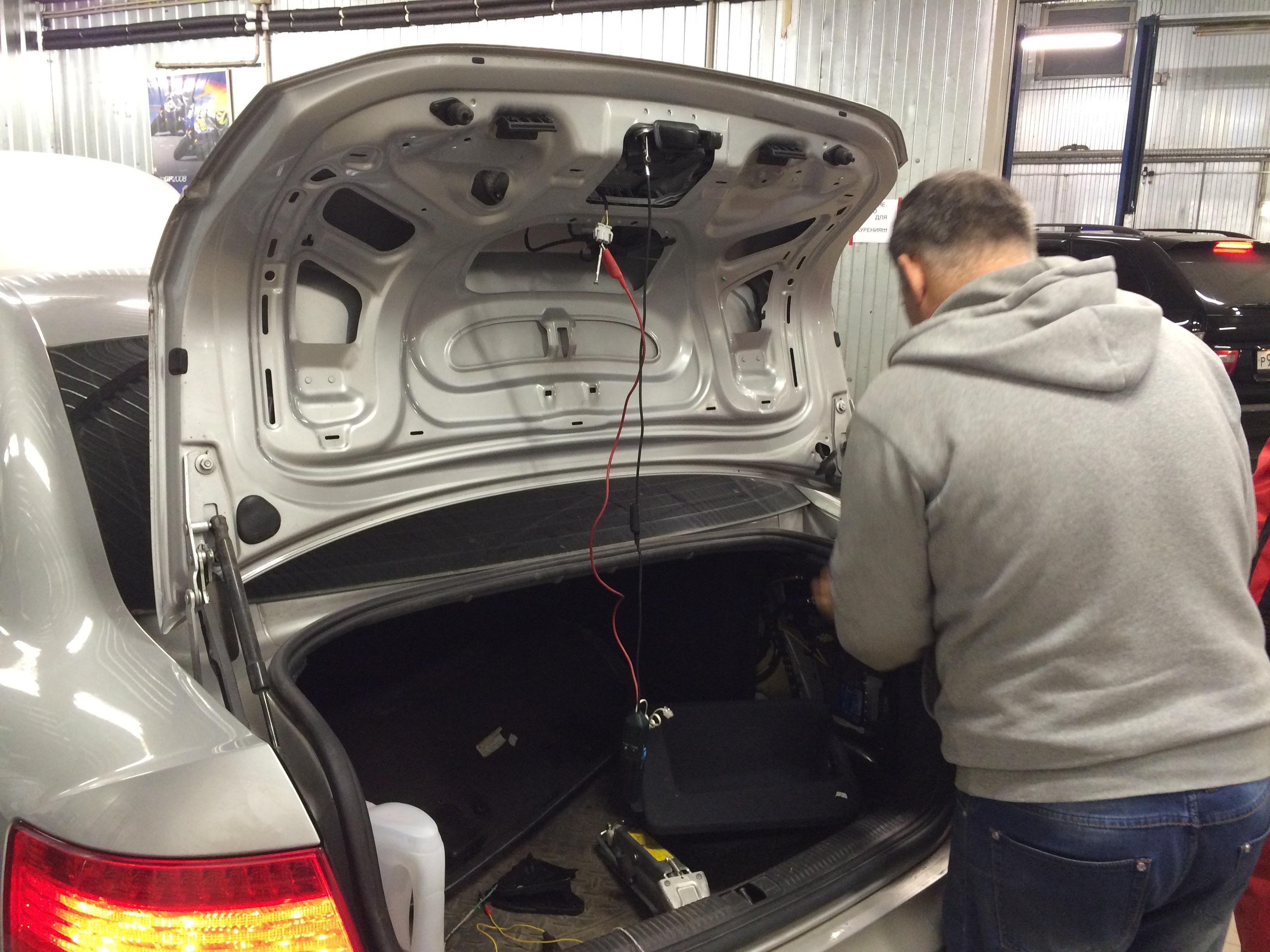Ремонт замка багажника Audi A6