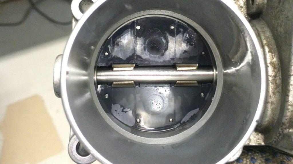 Дроссельная заслонка VW Polo после чистки