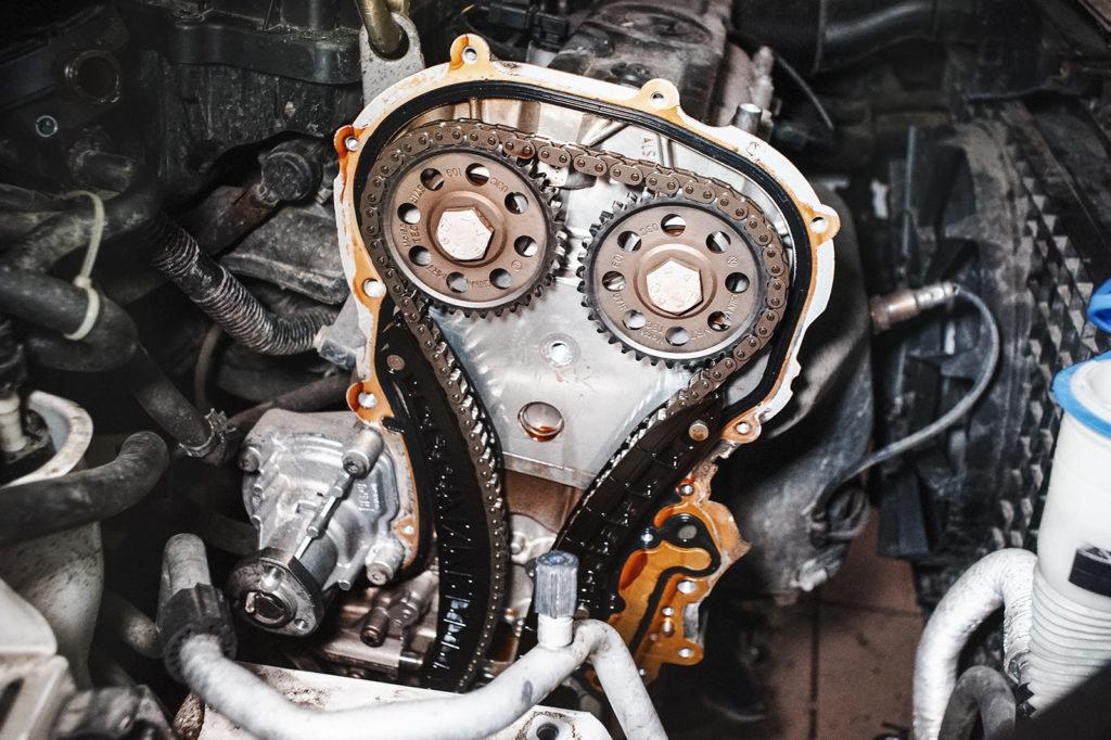 Старая прокладка двигателя Фабии