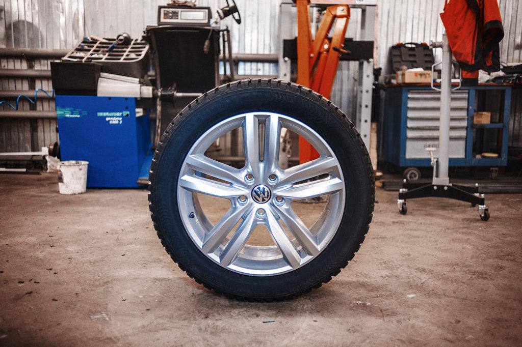Колёса готовы к установке на Volkswagen Touareg NF