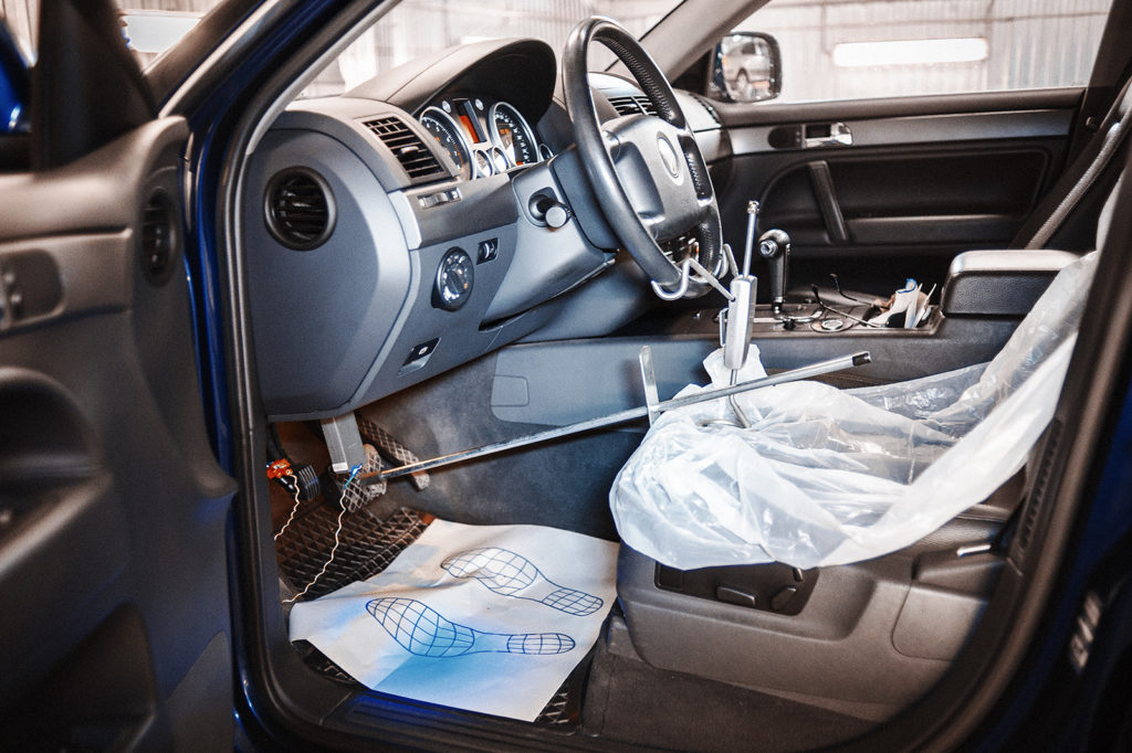 Фиксируем руль, контролируя показания по сканеру