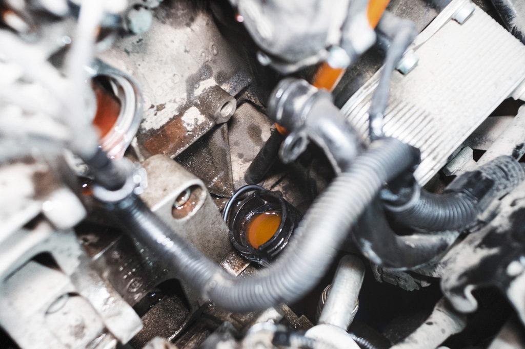 Двигатель Фольксваген Пассат в ожидании нового термостата